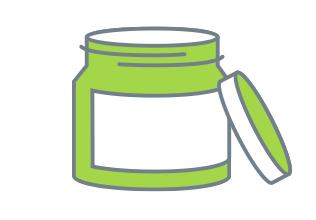 illustrated jar deodorant with cap off